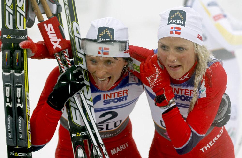 Marit Björgen ja Therese Johaug