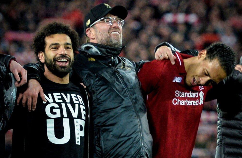 Mohamed Salahi särgi pealt saab lugeda, et kunagi ei tohi alla anda.