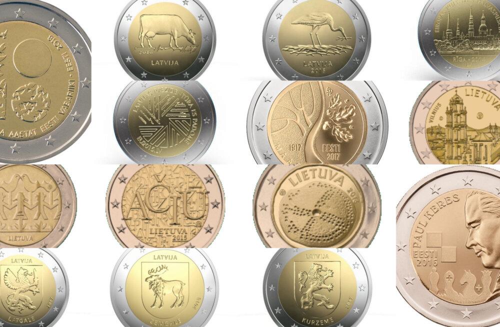 Läti 8, Leedu 4, Eesti 3. Miks on Eesti Pank väljastanud vähem erikujundusega münte kui naabrid?