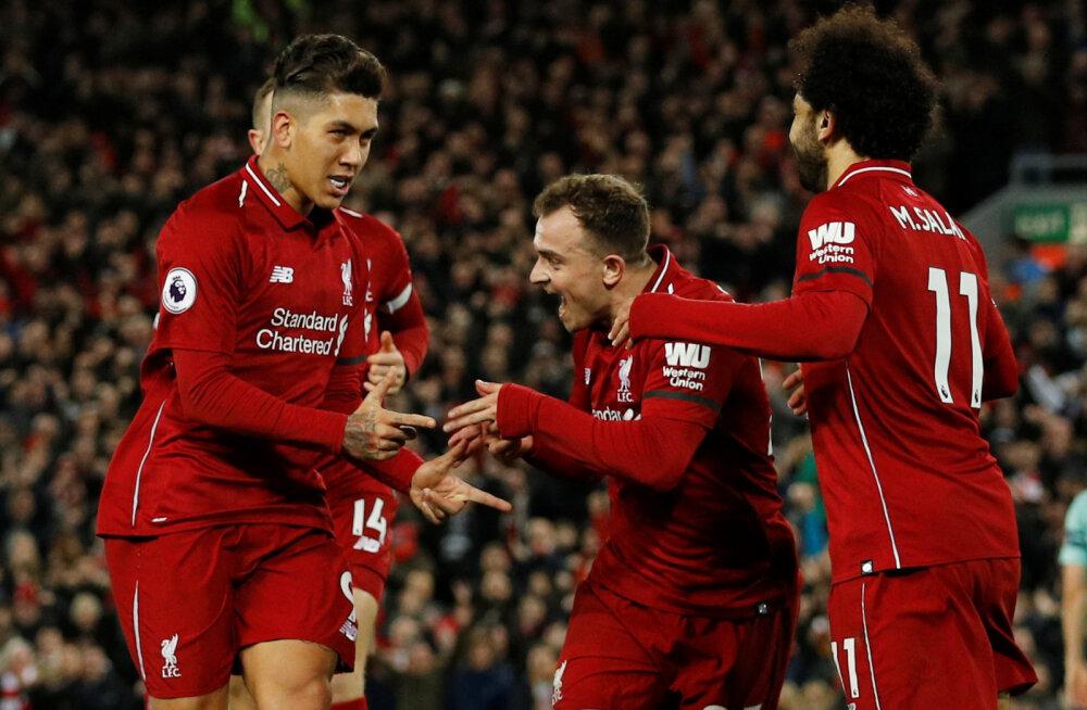 VIDEO | Vägevas hoos Liverpool purustas Arsenali ja kindlustas liidrikohta
