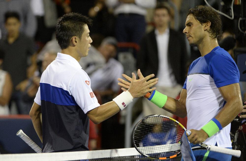 Nishikori alistas ATP Mastersil Nadali, Djokovic oli hädas Gulbisega