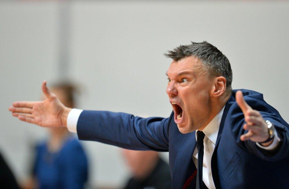 Kaunase Žalgirise peatreener Šarūnas Jasikevičius on tuntud emotsionaalsuse poolest.