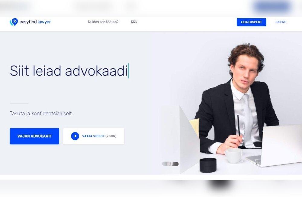 Uus eestlaste loodud rakendus püüab raputada advokaatide turgu