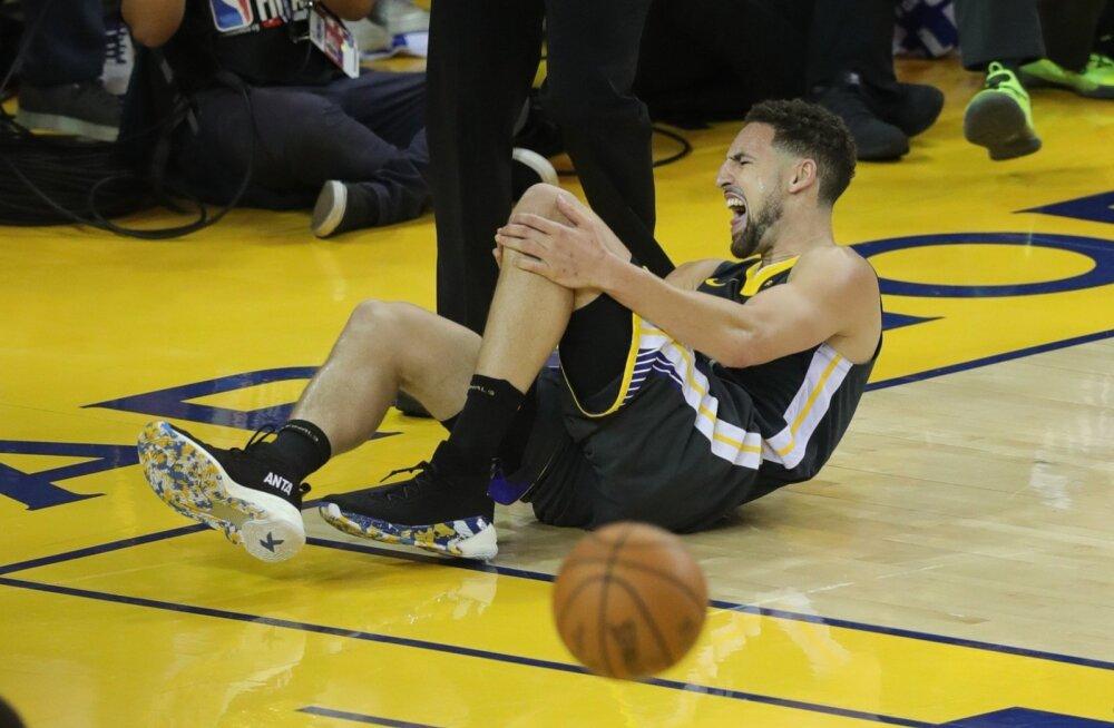 Klay Thompson vigastas rängalt põlve.