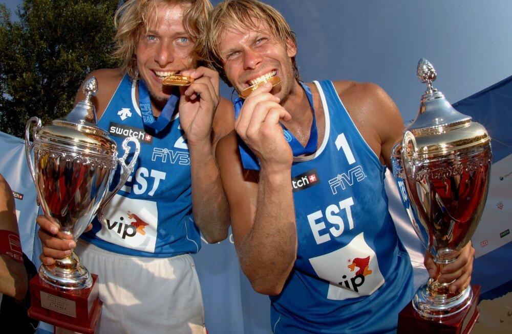 MK-etapi kuldmedal on Rivo Vesikul (vasakul) ja Kristjan Kaisil olemas, tiitlivõistluste medal jäi liiga hea südame taha.