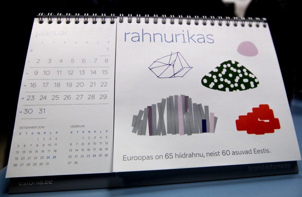 Eesti uut kaubamärki reklaamiv kalender