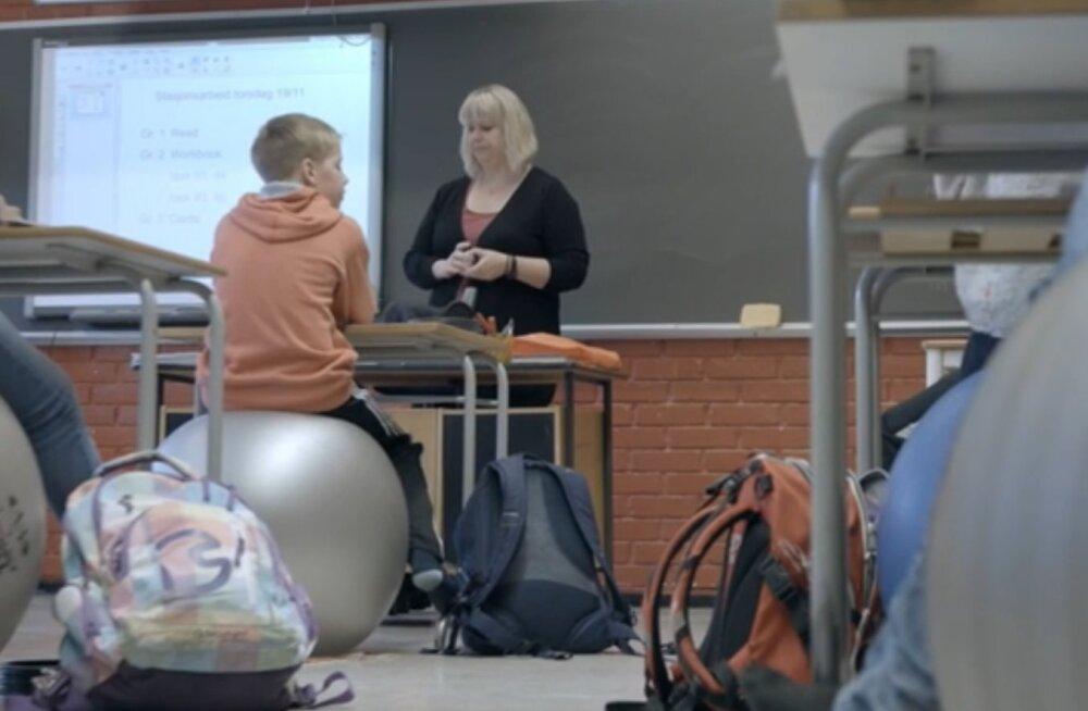 Lapsed hakkavad koolis toolide asemel istuma pallidel