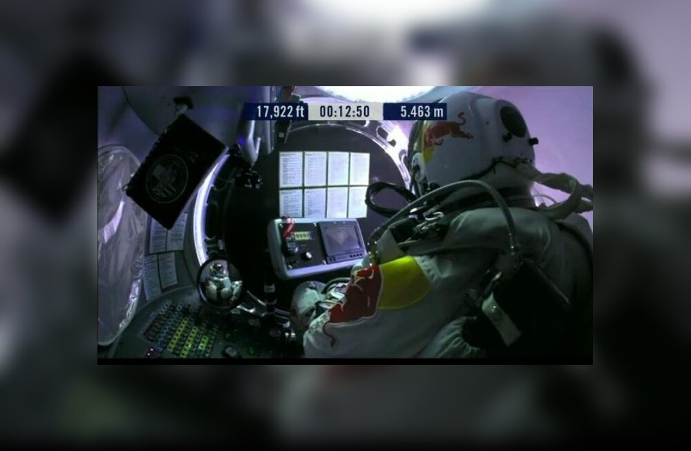 Baumgartneri kosmosehüpe purustas YouTube'i vaadatavuse rekordi