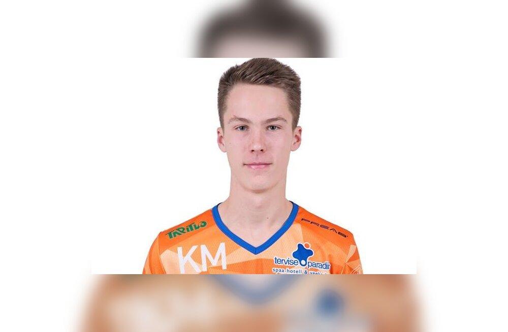 Pärnu võrkpalliklubi resultatiivseimaks kerkis 16aastane tulevikulootus