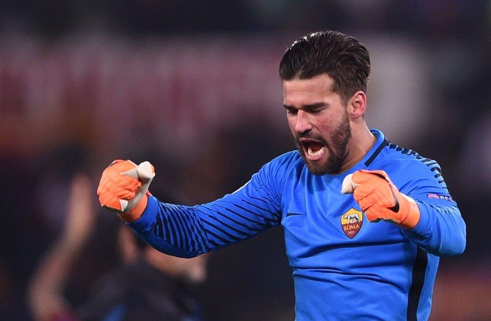 AS Roma väravavaht Alisson.
