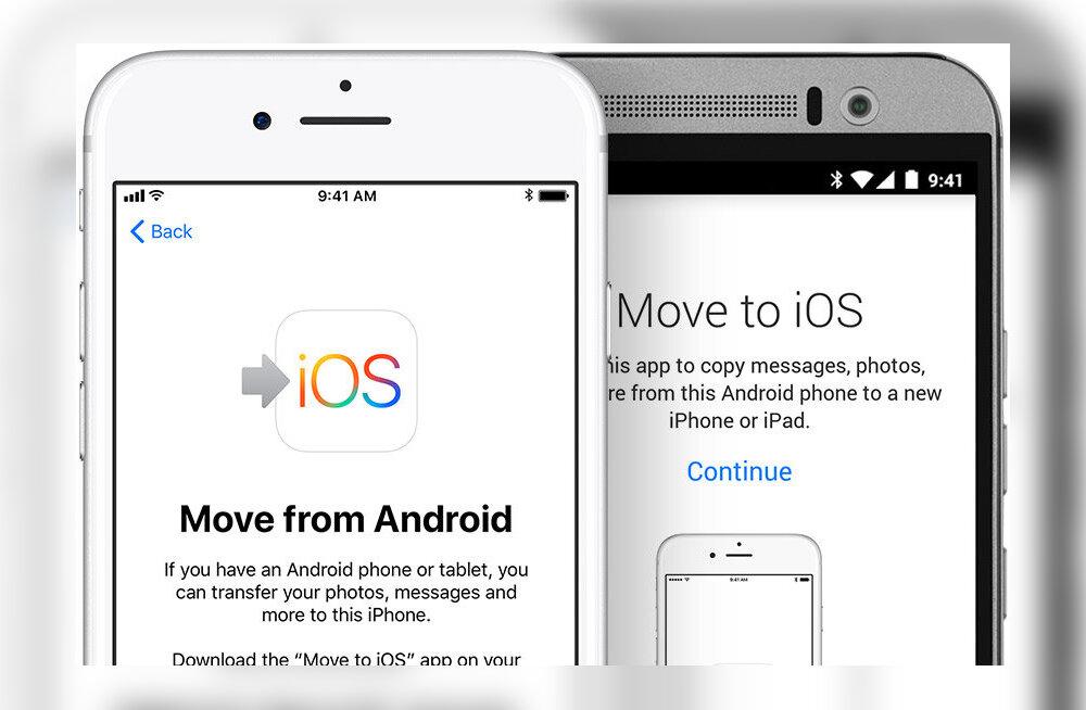 Nipp: kuidas Androidi telefoni sisu kerge vaevaga iPhone'i saata