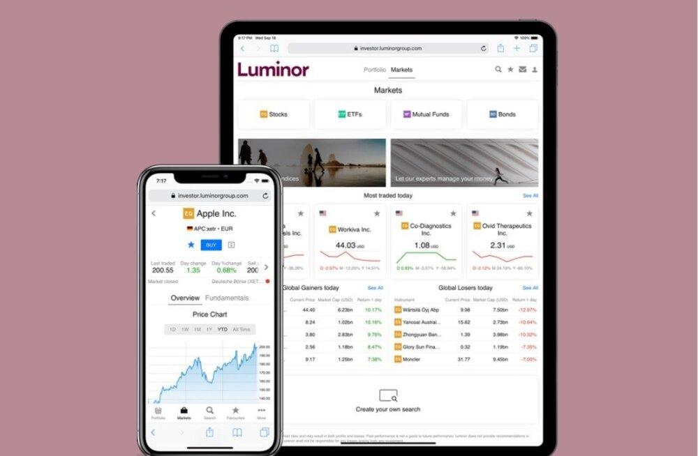 Luminor tõi turule uue investeerimisplatvormi