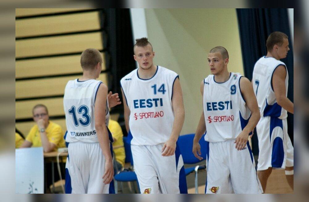 FOTOD: U20 korvpallikoondis sai Rakveres Lätilt taas kaotuse
