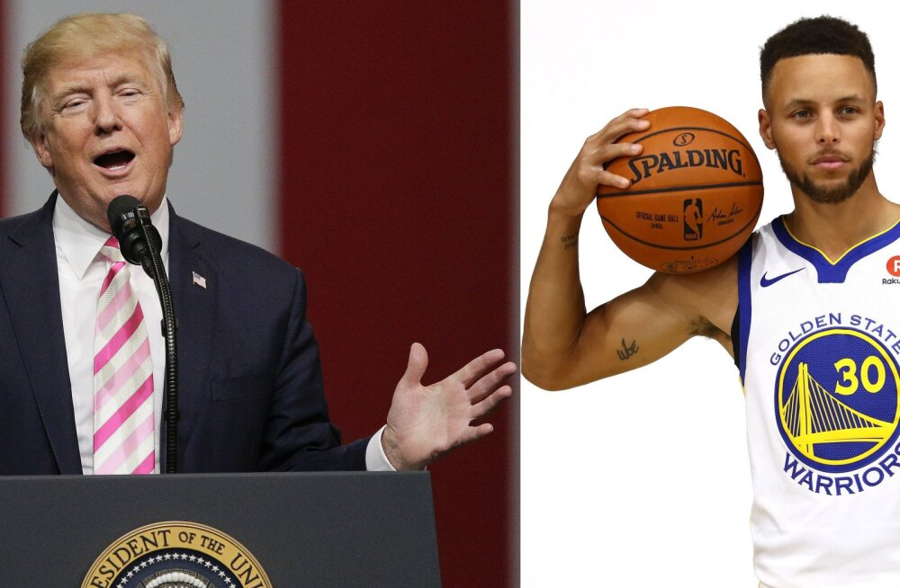 Donald Trump ja Stephen Curry