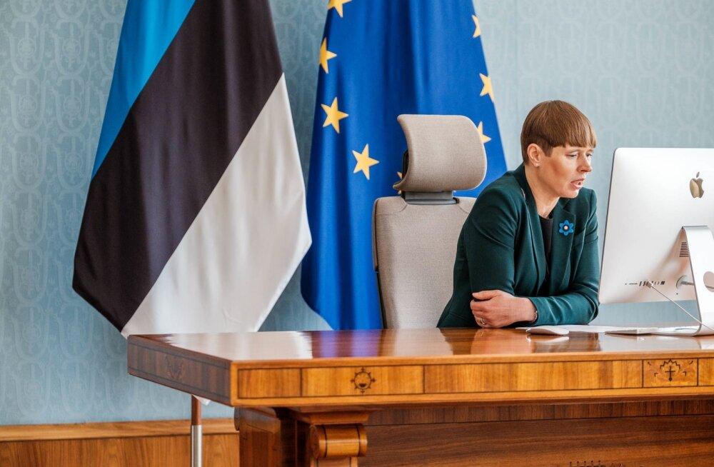 Kersti Kaljulaid tänasel videokohtumisel põllumeestega