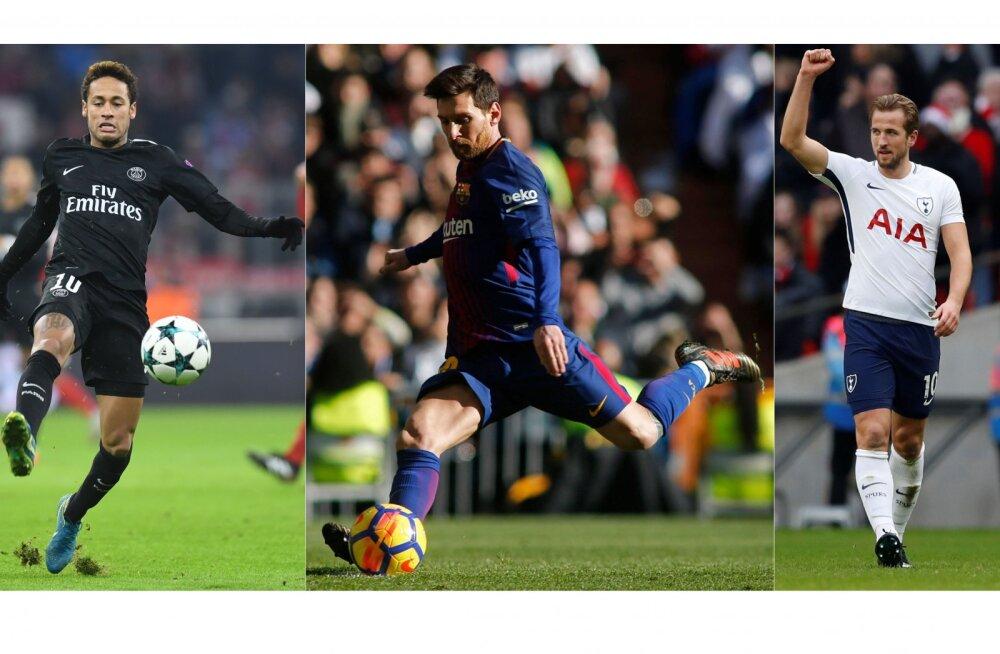 Neymar, Messi ja Kane