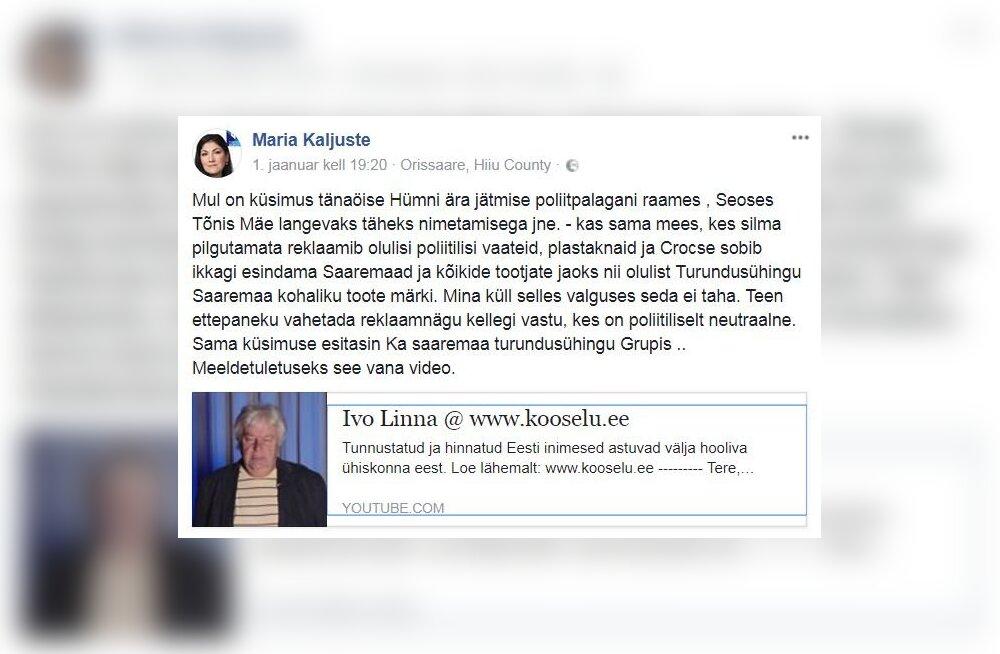 MEIE MAA | Kaljustele ei meeldi Iff Saaremaa kaubamärgi reklaamijana