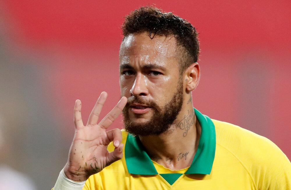 Kolm väravat löönud Neymar möödus Ronaldost, Pele rekord on ohus