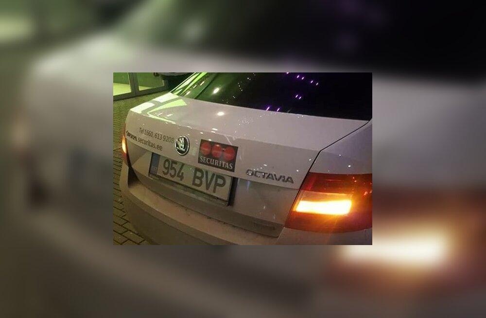 Turvafirma Securitas auto, mille juht jalakäijatele ohtliku manöövri sooritas