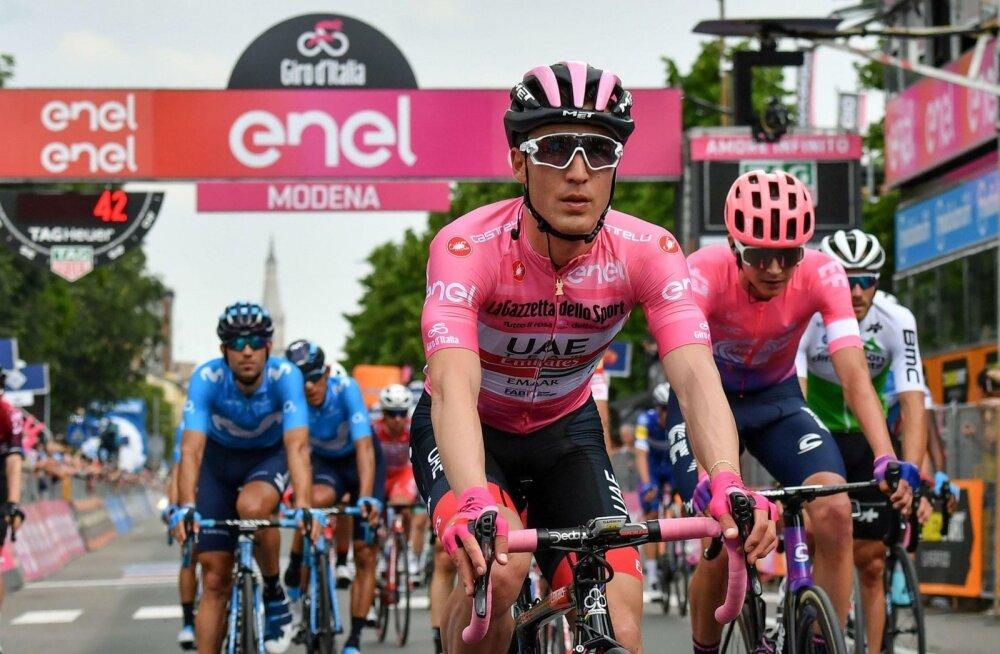 Esiplaanil Giro d'Italia liider Valerio Conti