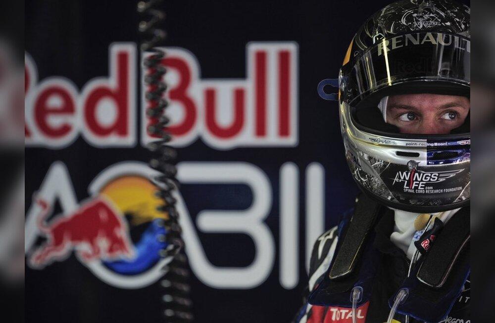 JÕUDEMONSTRATSIOON: Red Bullid edestasid konkurente sekundiga