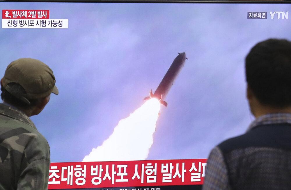 Põhja-Korea lasi Jaapani merre tundmatud objektid
