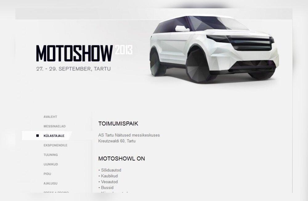 Motoshow lahtiolekuajad ja piletiinfo