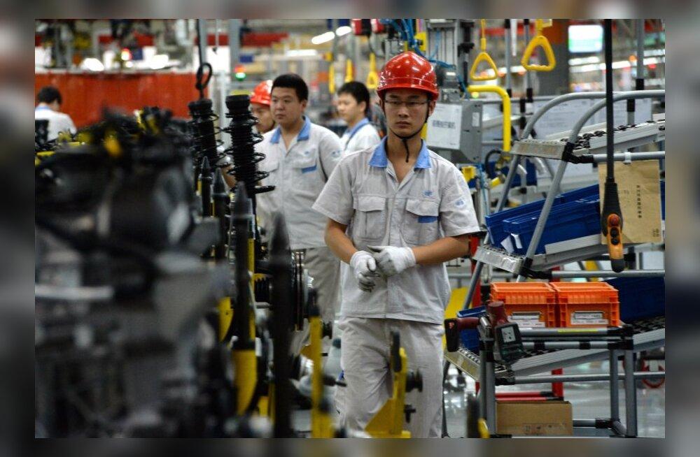 Volkswageni ja FAW tehas Chengdus.