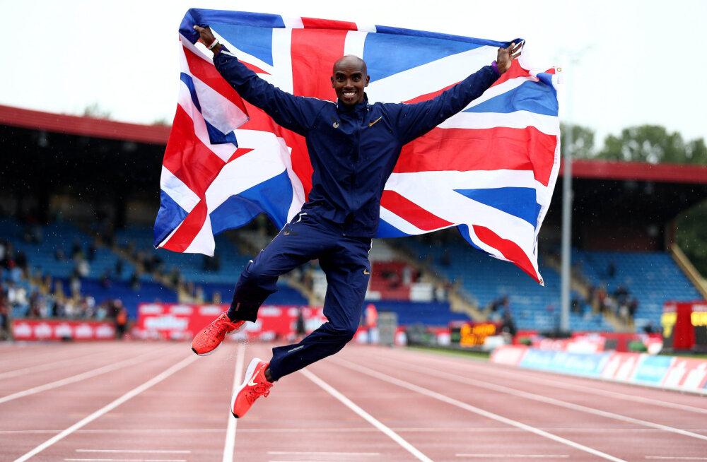 Neljakordne olümpiavõitja Farah võitis karjääri viimase jooksu kodumaal