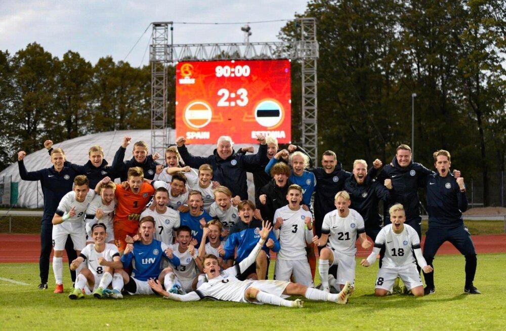 Võidukas Eesti U17 koondis.