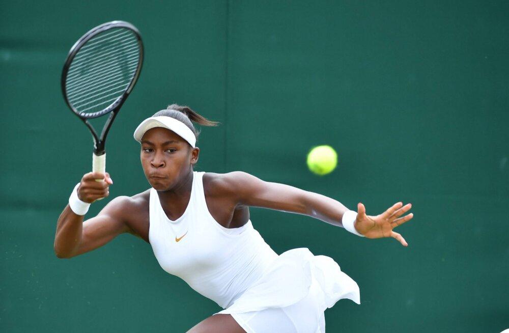 15-aastane ameeriklanna Cori Gauff tegi Wimbledonis ajalugu