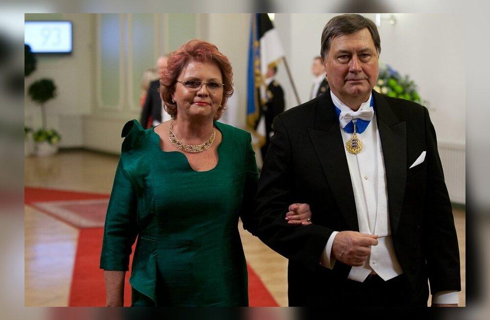Siiri Oviir, Mihkel Oviir, Eesti Vabariigi 93. aastapäeva presidendi vastuvõtt Estonia kontserdimajas