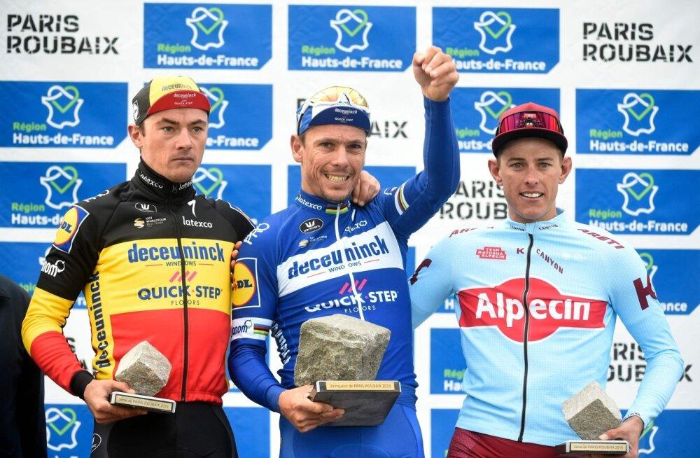 Pariis-Roubaix 2019 poodium