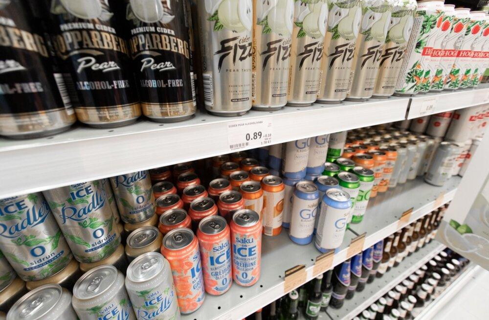 Alkoholivabade õllede ja siidrite valik on viimastel aastatel mitmekordistunud.