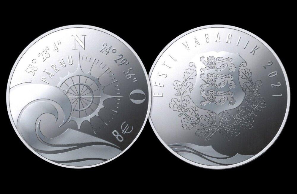 Eesti Pank laseb kevadel välja Pärnule pühendatud hõbemündi
