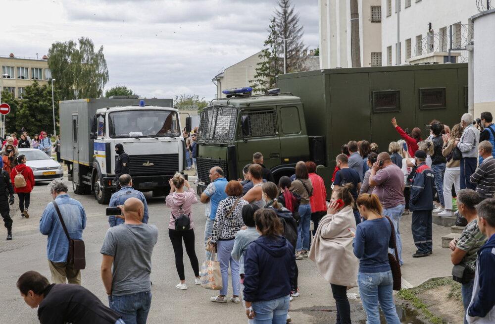 Valgevene siseministeeriumi teatel vahistati ööpäevaga 700 inimest, kokku on vahistatuid üle 6700