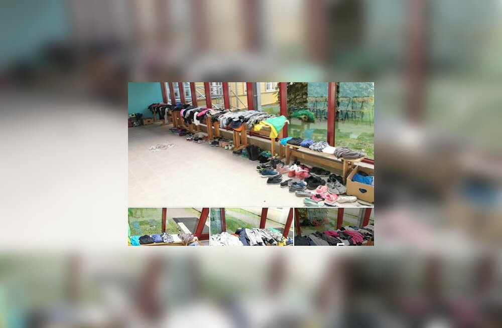FOTOD | Uskumatu, kui palju riideid lapsed kevaditi kooli unustavad! Kärdla Põhikool kutsub õpilasi oma asjadele järele