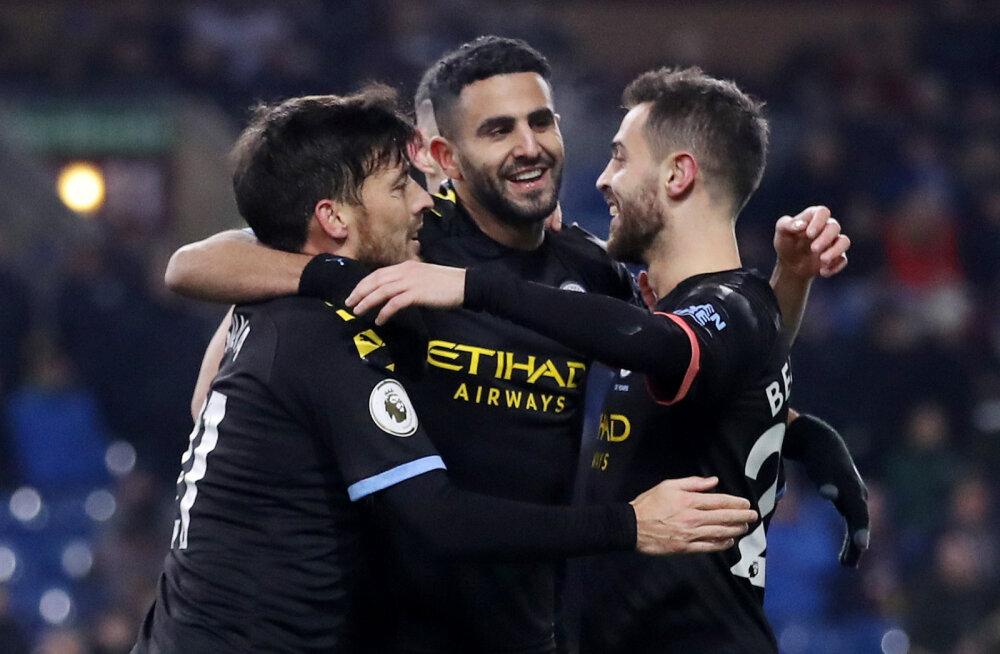 Kindla võidu saanud Manchester City vähendas Liverpooliga vahet