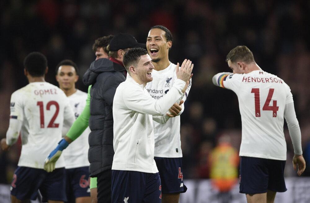 Liverpool jätkab pidurdamatus hoos, Tottenham korraldas väravatesaju
