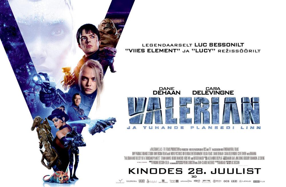 """""""Valerian ja tuhande planeedi linn"""" on läbi aegade kõige kallim Euroopa film. Seda lihtsalt peab nägema"""