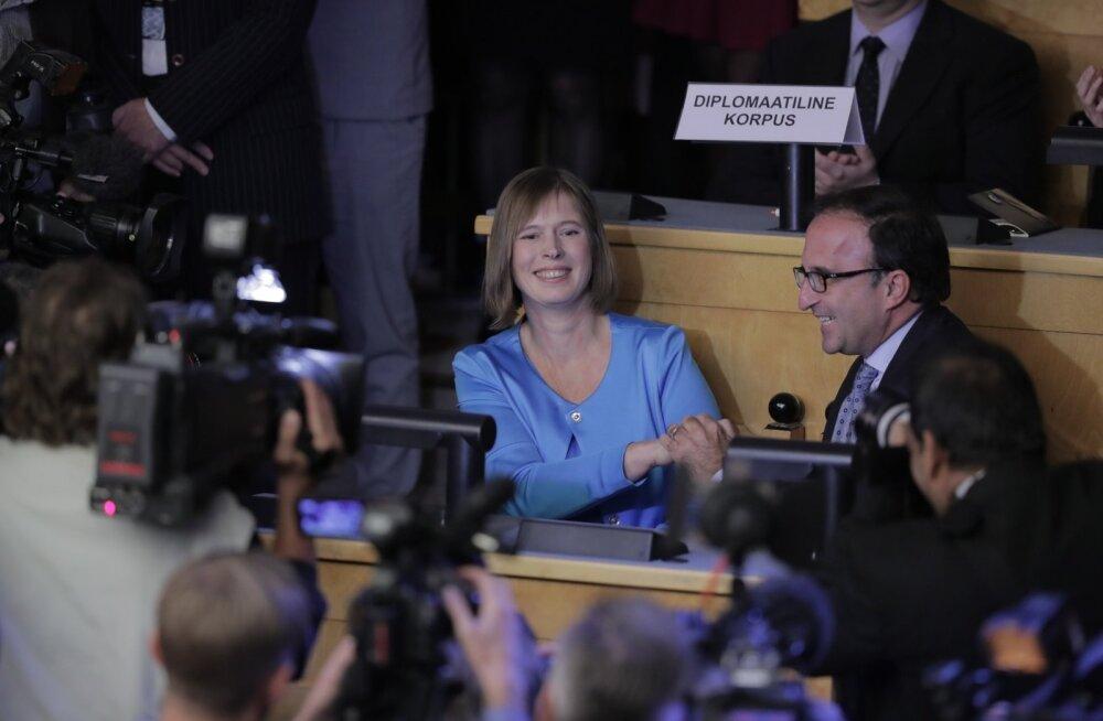 ФОТО и ТЕКСТОВЫЙ ОНЛАЙН: Исторический выбор! Керсти Кальюлайд — первая в истории Эстонии женщина-президент