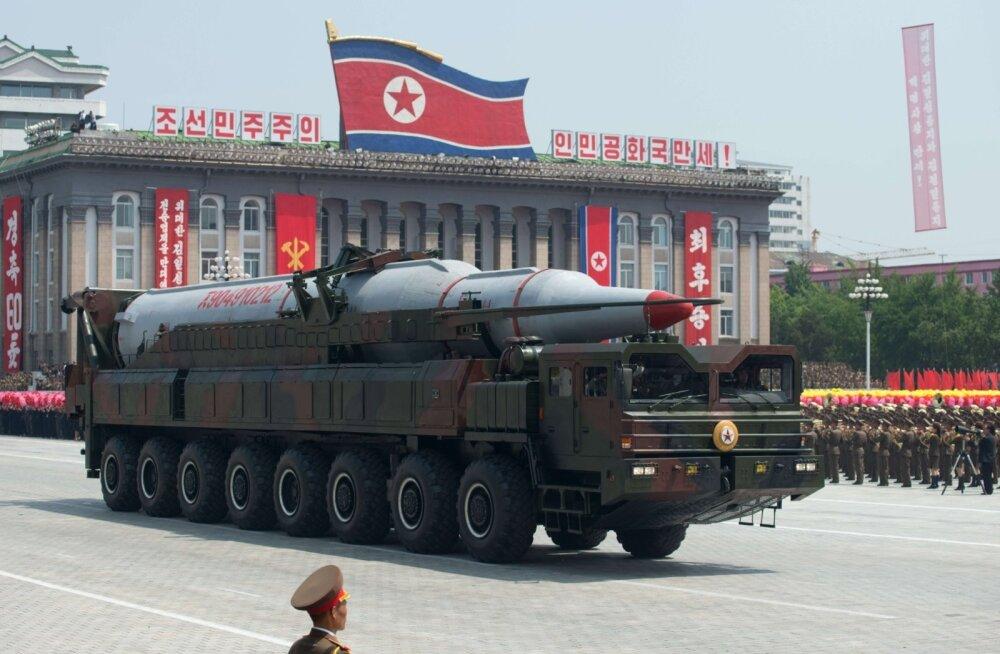 CNN: Põhja-Korea plaanib olümpiamängude eel kaugmaarakettide näitamist suurel paraadil