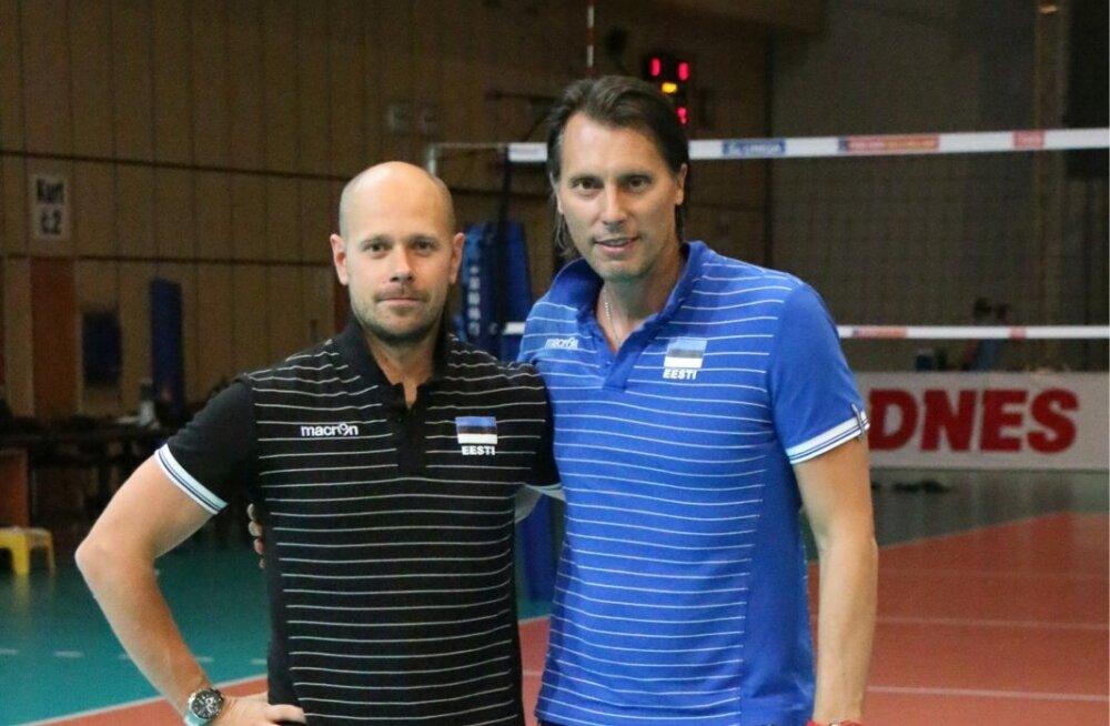 Alar Rikberg (vasakul) on Gheorghe Cretult palju õppinud: Itaalia võrkpallimetoodika pisiasjadest kuni kaalu langetamiseni.