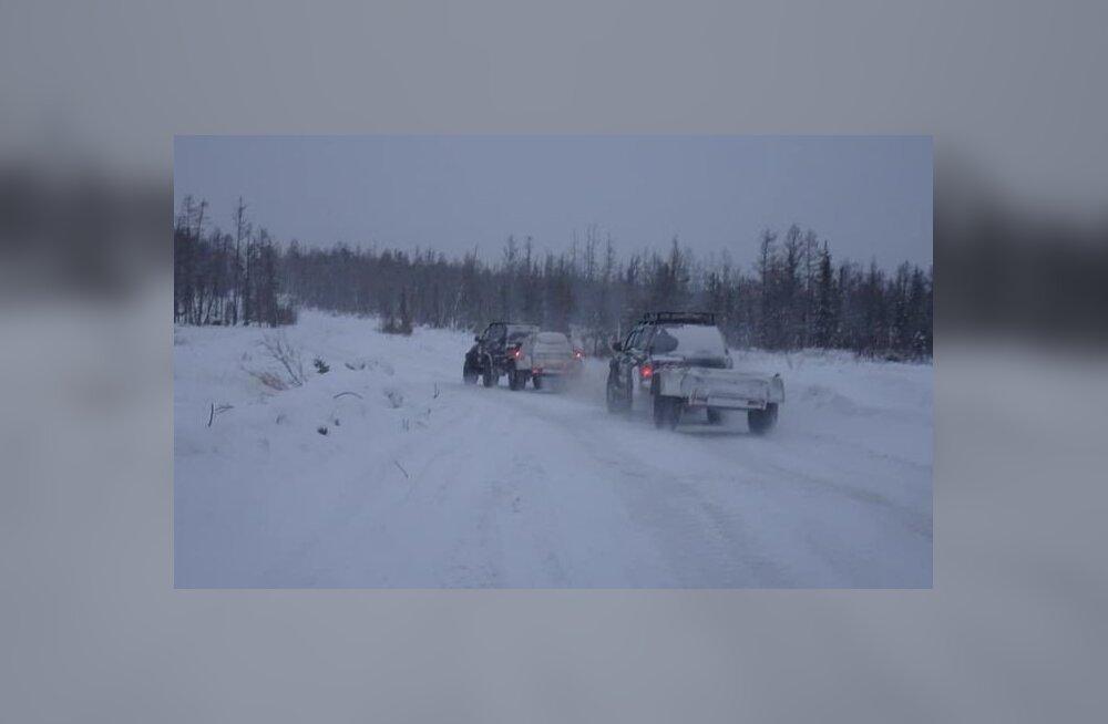 Teeolud Tšeljuskinini olid rasked ja ilm väga külm.