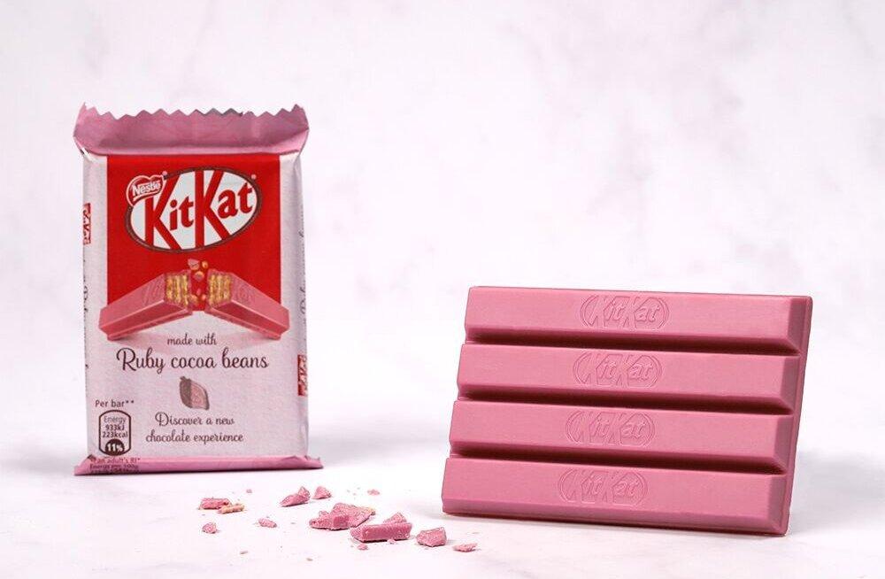Jaapanis populaarne roosa šokolaad jõuab Eesti poodidesse
