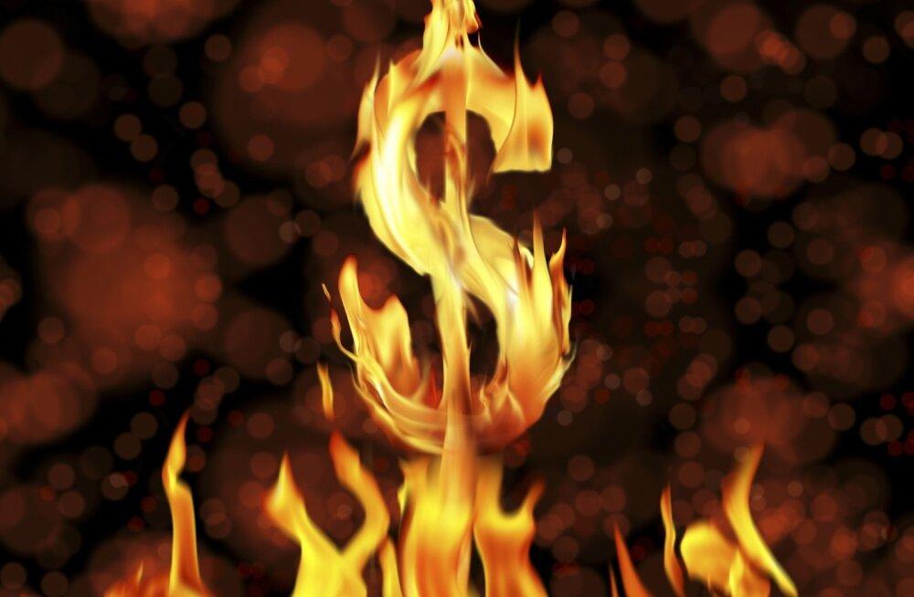 Raha põleb.