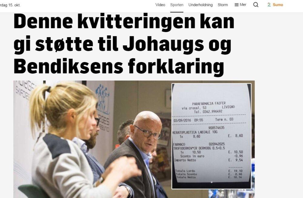 Norra telekanal avastas Johaugi dopingujuhtumis olulise juhtlõnga: kes ikkagi saatusliku huuleravimi ostis?