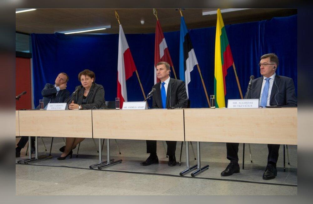 Baltimaade ja Poola peaministrite kohtumise järgne pressikonverents