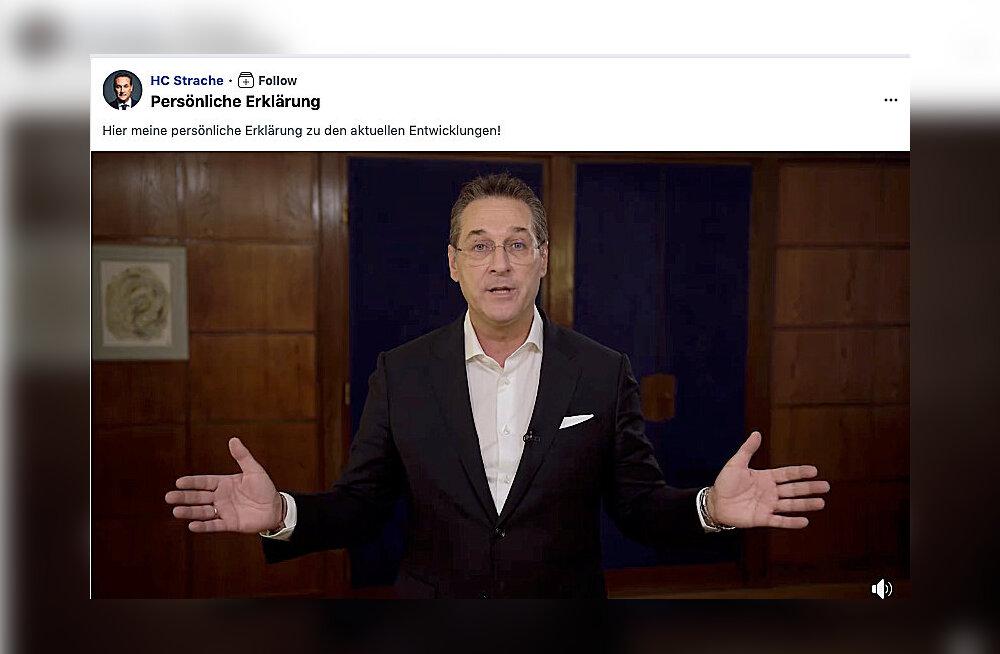 Austria paremäärmuslaste endine juht Strache esitas kompromiteeriva video pärast kuriteoavalduse