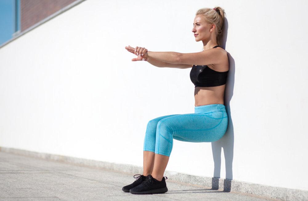 Kui sa soovid imeilusat ja treenitud tagumikku, tee kahte harjutust, milleks vajad vaid seina